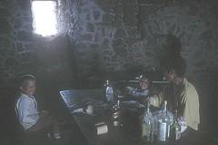 Déjeuner à l'intérieur de la tour de Turghju