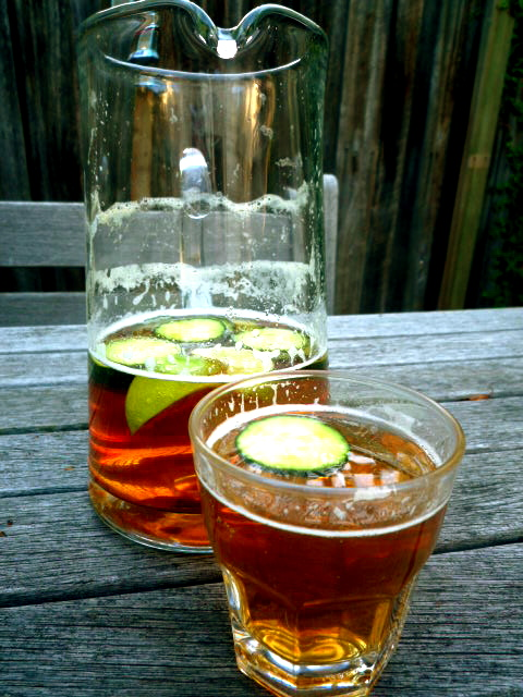 Pimms and lemonade