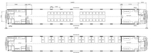 Train Chartering - Swiss rail SBB / SFF Meeting Carriage - plan