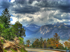 Rocky Mountain Highway (rm996s) Tags: from car clouds cool highway colorado scenic rocky windy explore mountians hdr explored