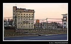 Life Though Destruction (TrackRunner09) Tags: ocean life street wood houses windows urban building history photoshop photography trafficlight newjersey weeds apartments open grove photos space asburypark poor lot liquor beyond framing hdr strairs rebuilding eac aprtments stils destrustion erictakespictures trackrunner09 trackrunnersphotgraphy