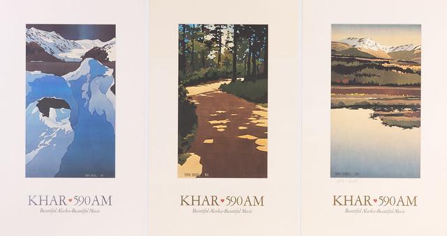 2002 - Set of 3 Birdsall KHAR Posters by alaskapublic