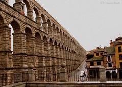 Segovia - Rainy Day Aquaduct (Harvey Brink - Canadian Visuals) Tags: history spain rainyday stonework segovia aquaduct