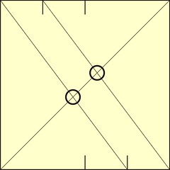 4. Fold Diagonal, Note Crossings