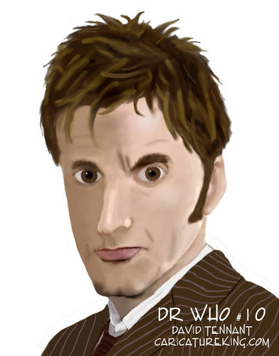 Caricature of Dr Who