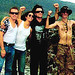 Larry Mullen Jr & Morleigh Steinberg & Bono & BP Fallon in Mexico