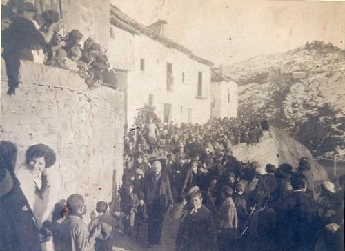 Procesión de San Sebastián en Toledo a principios del siglo XX. Cortesía de Yolanda García