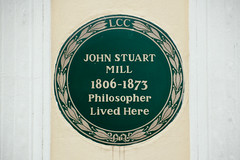 Photo of John Stuart Mill green plaque