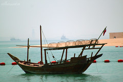 ([asma photographer]) Tags: old blue sun beach canon corn ship traditional pop qatar   asma