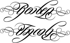"""Reuben"" & ""Jacob"" Ambigram"