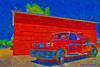 Reynolds Tow Truck Painted (HavCanon.WillTravel) Tags: red canon brickwalls trucks hdr fdrtools bej topazsimplify