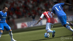 FIFA 12 - Wilshere jostling with Drogba