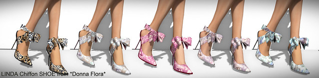 Donna Flora Linda Chiffon Shoes