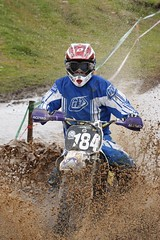 184 David Dick @ Scottish Hare & Hound 2011, East Linton (K9_Kirsty☂) Tags: west race scotland hare ride mud helmet goggles hound scottish x motorbike dirt moto splash linton enduro