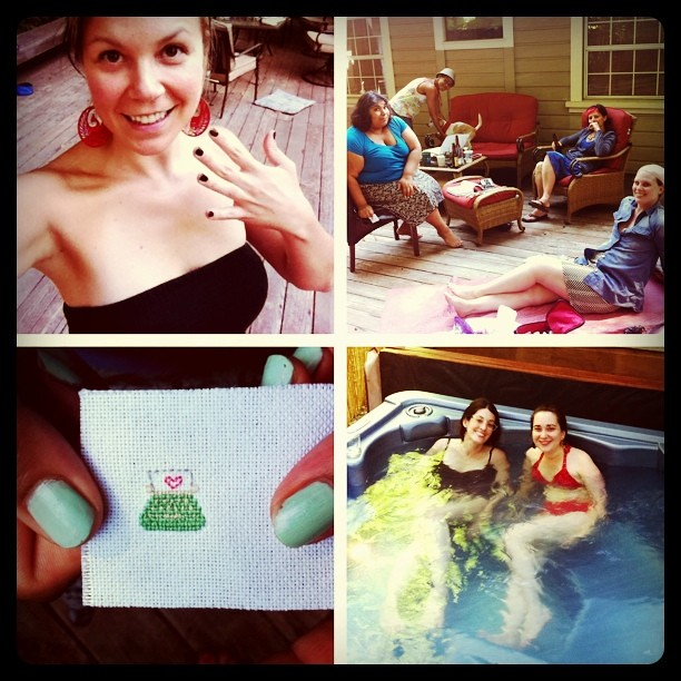 Nail polishin', deck chillin', embroiderin', hot tubin' LIDL Saturday!