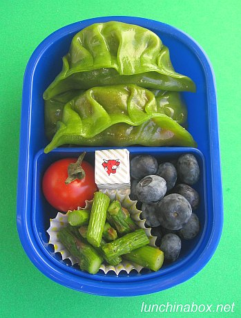 Curry gyoza bento lunch for preschooler