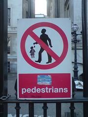 no tempting little girls with yoyos (SuperAdaptoid) Tags: london sign graffiti pedestrian temptation guesswherelondon peril restriction gwl guessedbystevew