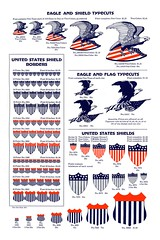Colbert Nation (Depression Press) Tags: blue red usa white silhouette illustration america vintage print logo stars typography design us 1930s election graphic eagle drawing stripes flag united report president politics ornament seal badge printing spindler americana shield states letterpress republican patriotism democrat cuts specimen colbert ballot barnhart 2008election depressionpress typecut typecuts