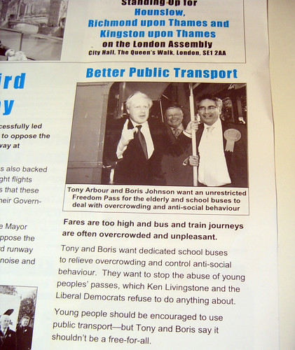 From London Assembly Member Tony Arbour's Campaign Newsletter