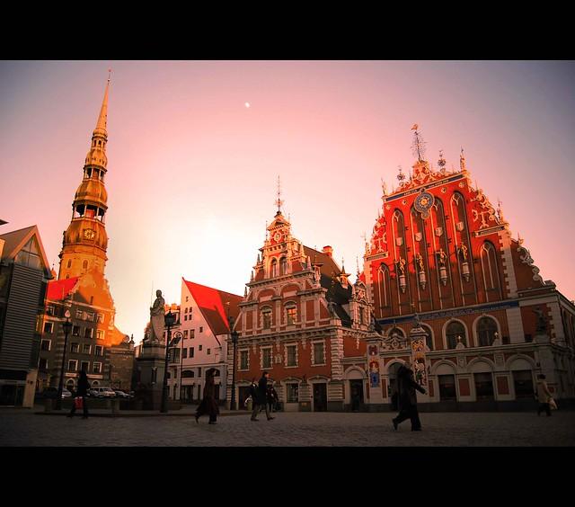 Sunrise over Riga