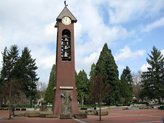 Salmon Run Bell Tower in Esther Short Park in Vancouver Washington