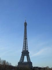 Eiffel Tower (cheesemonster) Tags: paris france tower vertical lady de la frankreich iron ledefrance torre landmark toureiffel tall frankrijk tor dame francia rp fer  clearday   rgionparisienne parisregion theironlady ladamedefer  afeatofengineering