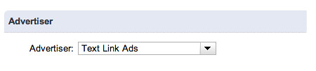 Google Ad Manager Add Order Advertiser Select