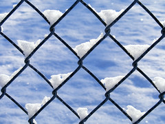 On the fence (James Jordan) Tags: snow fence chain link waver indecision decide