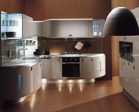 Modern small kitchen design idea