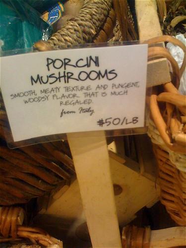 Mushrooms at Dean & Deluca