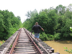 Crossing the Wolf River on the Greenline