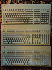 Apple Extended Keyboard II triple threat