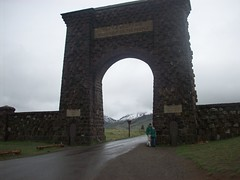 Yellowstone North (dragon_sme) Tags: park rain gate north entrance national yellowstone