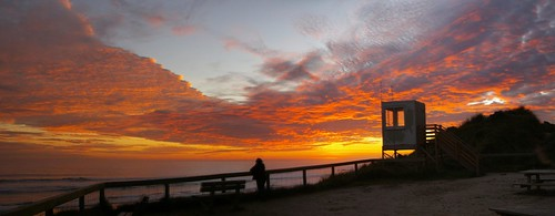 vb beach sunset panorama