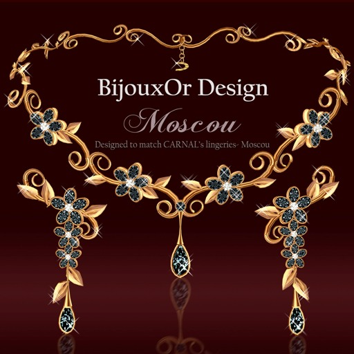 Moscou gold set black