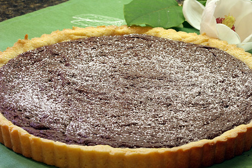 Chocolate Polenta Tart