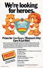 "Care Bears ""Care-A-Lot Kids"" Contest Ad (sciencensorcery) Tags: comics ad advertisement 80s carebears eighties 1985 tenderheartbear braveheartlion"