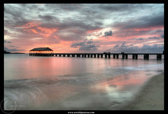 By a colorful night - Kauai (Arnold Pouteau's) Tags: sunset hawaii pier pacific chapeau kauai msm hanaleibay infinestyle