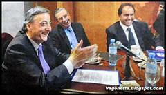 Kirchner, Mazzon y Scioli se te cagan de risa