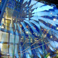 Blue Reflection (Tobi_2008) Tags: reflection berlin germany deutschland sonycenter blau reflexions allemagne spiegelung soe germania blueribbonwinner mywinners abigfave aplusphoto superbmasterpiece diamondclassphotographer flickrdiamond theunforgettablepictures colourartaward platinumheartaward theperfectphotographer