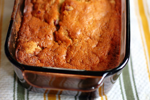 bourbon-laced banana bread