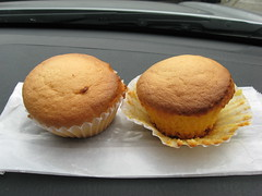 Paris Sandwich: Pancake muffin (unwrapped)