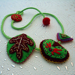 No72_1_felt necklace (Katrin Lerman) Tags: felted fun necklace colorful embroidery felt bracelet accessories etsy embroidered multicolor jewellry yewelry kaleidoscopestyle