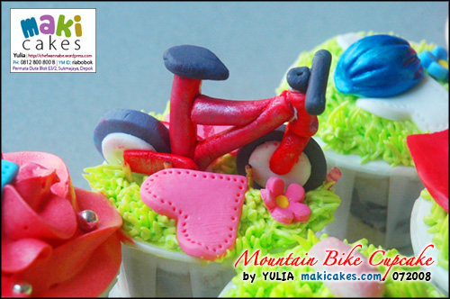 Cupcake Sepeda - maki cakes