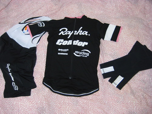 Rapha Apparels with the Logo