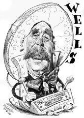 WELLS, Herbert George (Morales de los Ros) Tags: writers caricaturas philosophers caricatures escritores filsofos