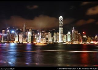 Hong Kong - Victoria Harbour (Night);  香港 - 維多利亞港 (夜景)