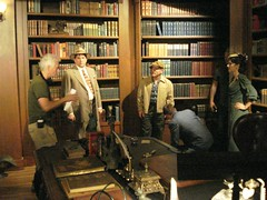 "The Library set of ""Dark and Stormy Night"""