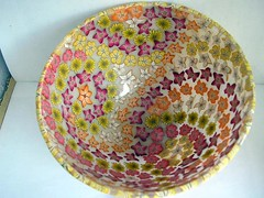 Red Orange Yellow Bowl - Inner