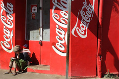 Mother and son + Coca-cola